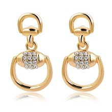 Trendy Animal Pattern Oval Shape Earring gold plated jewelry