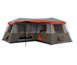 Large 12-Person Instant Cabin Outdoor Family Camping Hiking 3-Room Tent