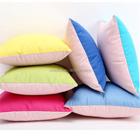 Any color available sofa set backrest customize solid color square 45cm stock cotton canvas cushion