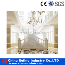 white marble building materials indoor stone stairs, stone steps