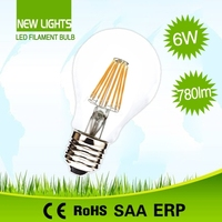Interior lighting high output best quality competitive price dimmable led filament bulb