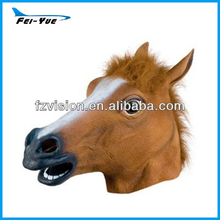 Fancy Costume Rubber Latex Creepy Horse Mask