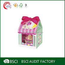 Customize Elegant House shape paper box for cupcake at best price