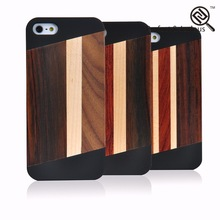 Professional universal Custom logo tpu glow in pc bamboo case for iphone 5s