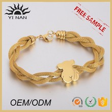 High Quality Stainless Steel Wed Gold Bracelet Animal Jewelry Lobster Clasp