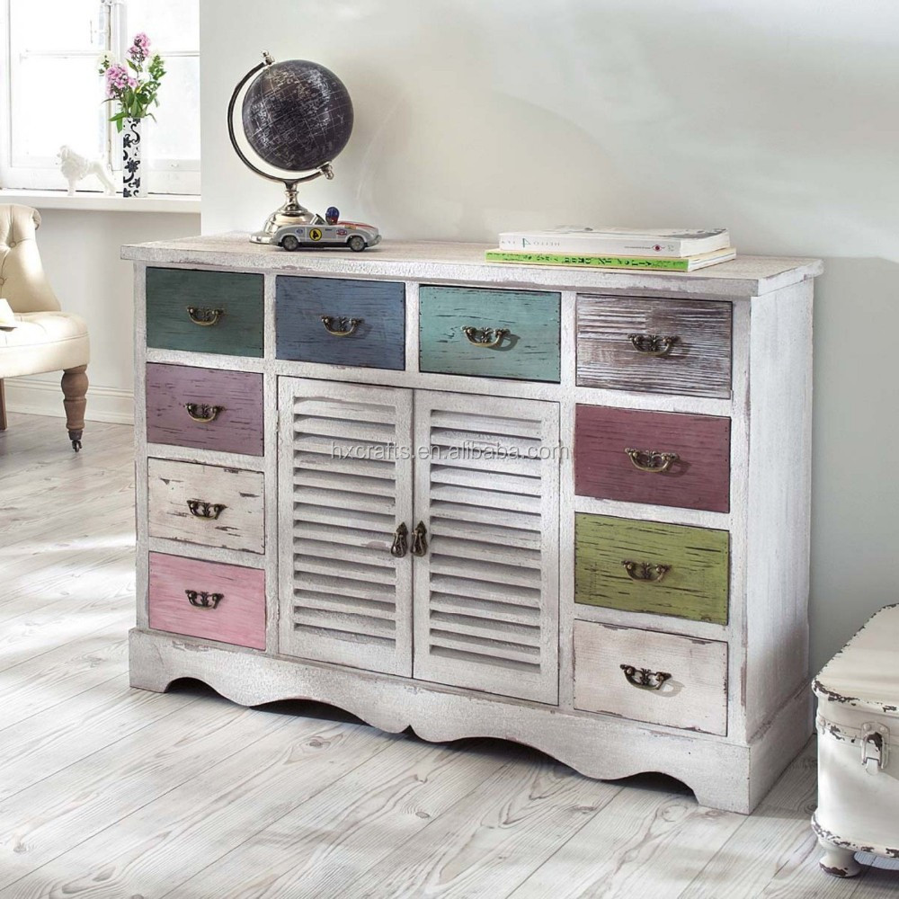 Kommode In Shabby Chic With 10 Drawers/shabby Chic Cabinet - Buy ...