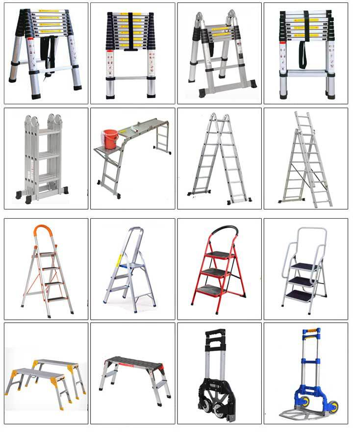 Meilleur prix pour aluminium chelles en aluminium for Tipos de escaleras de aluminio