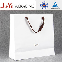 250gsm Art paper matt lamination luxury shopping paper bag white