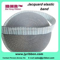 polyester rubber jacquard ribbon rubber bands