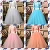 2015 Dresses Children Long Frocks Designs Beaded Spaghetti Ball Gown Ruffle Floor Length Formal Flower Girl Dress