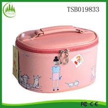 alibaba China new product wholesale YiWu promotional PU pink promotional cosmetic bag