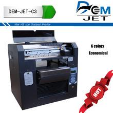 Home made DIY digital flatbed 6 color card logo printing machine