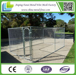 Chain Link Economy Dog Kennel Hot dipped galvanized dog kennel wholesale