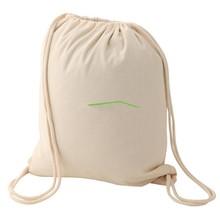 Latest design foldable drawstring backpack,cotton cloth bag