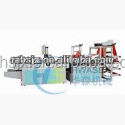 HSLQ-700 Full automatic bottom sealing cold cutting t-shirt bag make machine