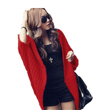 2015 newest 3color choice free size fashion solid spring and autumn wear knit long cardigan women sweater