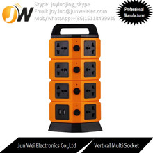 Ultra-thin Vertical/Tower 15 amp socket with Independent Switched