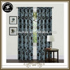 flocking taffeta curtain designs, double swag luxury drapes and curtains