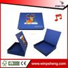 2014 new design chocolate paper music christmas gift box