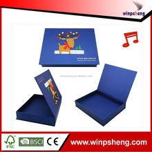 2014 new design chocolate paper music christmas gift box