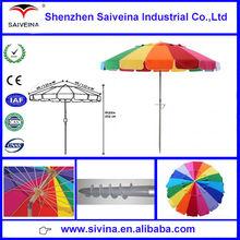 China supplier produced advertising beach umbrella hot selling on alibaba high quality wholesale cheap China beach umbrella