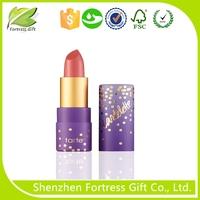 Custom eco lighted lipstick tube,paper tube for lip balm