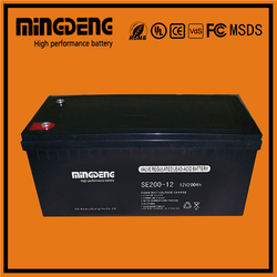 High quanlity 12v 200ah gel storage dry cell for wholesales