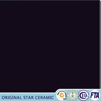 Foshan super black polished porcelain floor tile 24x24