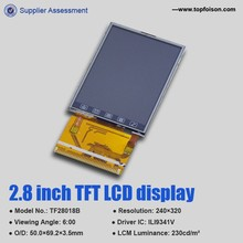 2.8 inch lcd screen display with 240*320 (qvga) and resistive touch screen for handheld terminal