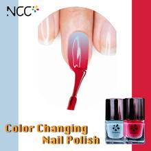 Lady style cheap wholesaler magic Nail polish barrels change color under the sun