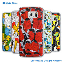 Most new hard case 2015 for Samsung galaxy S6 case S3 S4 S5 mini win covers cute birds 3D designs customized picture available