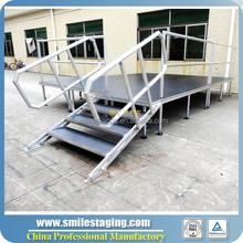 Used portable stage for sale, wedding stage decorations sets stage platform adjustable height