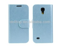 Silk Pattern Wallet Leather Case for Samsung Galaxy S4 Mini i9190