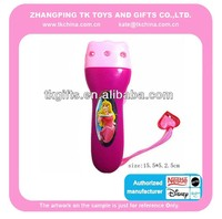 electronic toys plastic torch princess custom design for kids