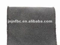 Black waterproof polyester/cotton canvas