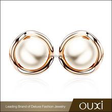 2015 OUXI 18K Rose Gold Pearl Earring in Guangzhou Manufacturer 21037-2