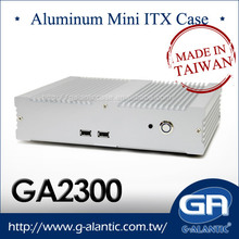 GA2300 Aluminum Mini Industrial Fanless Mini ITX Computer Case