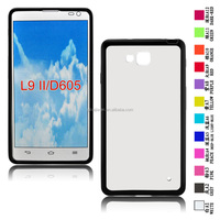 Wholesale Moble phone Hard Case TPU+PC frame Case for LG L9II/D605