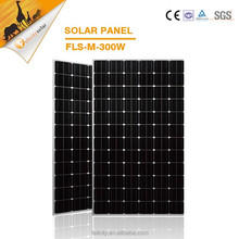 Rack adjustable A grade cells 300w mono solar panel with CE SGS certification