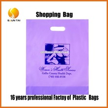 customized printed HDPE plastic T-shirt packaging shopping bag for fruit and vegetable