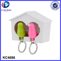 Promotions Gift Girlfriend Gift New House Decoration Couple Bird house Keychain And Keyrings For Couples
