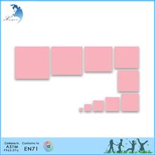 Kindergarten classroom montessori material Pink tower extension charts