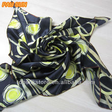 pau sun 100% silk printed scarf