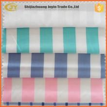 fashion cotton cvc tc twill strip check printed hospital bedsheet fabric