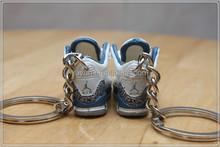2015 custom high quality 3D jordan keychain manufacturer / metal,pvc,car logo keychain keyring factory