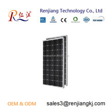 Renjiang best price and high quality mono solar cell solar panel power 130w