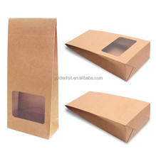 Factory price colorful recyclable kraft paper bag with window,package bags