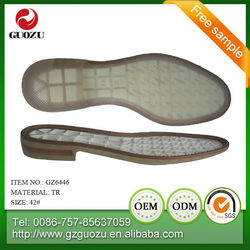 men embossed electrically heated leather tr sole