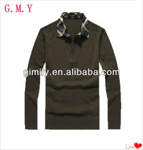 Fashion urban outfitters woolen plain polo t shirt for men