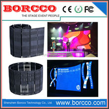 Shenzhen P9.375 Flexible Led Video Curtain,Transparent Led Curtain Display,Indoor Led Video Curtain for Rental and Event